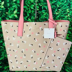 Kate Spade Mya Breeze Floral Ditsy arch place tote